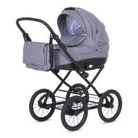 Knorr Baby Kinderwagen KRETA Hellgrau / Punkte Kollektion 2021