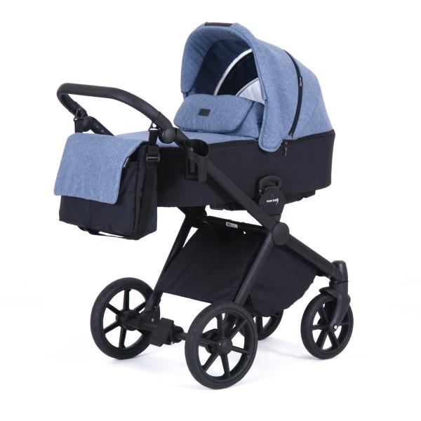 Knorr Baby Kombi-Kinderwagen LIFE+ 2.0 Black Edition Jeansblau-Schwarz Kollektion 2021