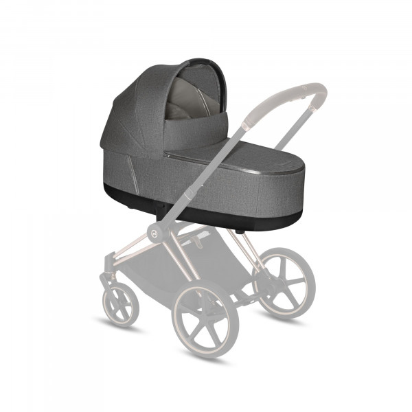 CYBEX Platinum Priam Lux Kinderwagenaufsatz Plus Manhattan Grey Plus Kollektion 2020