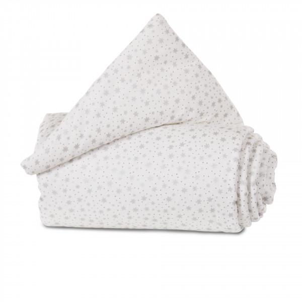 Tobi Babybay Nestchen für Original Organic Cotton weiß, mit Glitzersternen silber