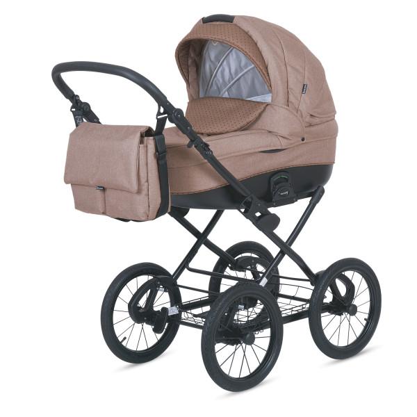Knorr Baby Kinderwagen KRETA Cappucino / Punkte