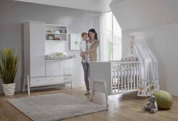 Schardt Babyzimmer Holly White 70x140 cm inkl. Umbauseiten
