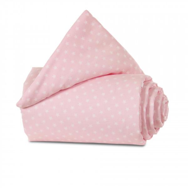 Tobi Babybay Nestchen für Original Organic Cotton rose, mit Sternen weiß
