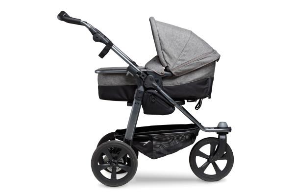TFK mono Kombikinderwagen mit Luftkammer Radset Premium Grau