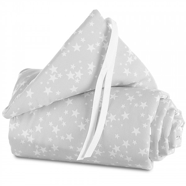Tobi Babybay Nestchen für Original Piqué perlgrau, mit Sternen weiß