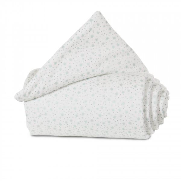 Tobi Babybay Nestchen für Original Organic Cotton weiß, mit Glitzersternen mint