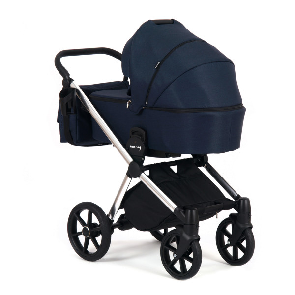 Knorr Baby Kombi-Kinderwagen LIFE+ 2.0 Silver Edition Marine blau Kollektion 2021