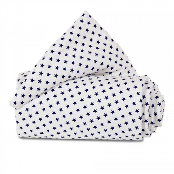 Tobi Babybay Nestchen für Original Organic Cotton weiß, mit Sternen blau