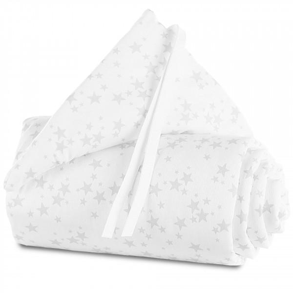 Tobi Babybay Nestchen für Original Piqué weiß, mit Sternen perlgrau