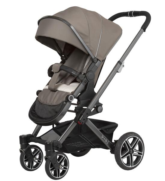 Hartan Kinderwagen Vip GTX 408 taupe tweety Gestellfarbe platin Kollektion 2021