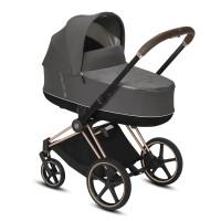 CYBEX Platinum PRIAM inkl. Sitz und Lux Babywanne Soho Grey Kollektion 2021