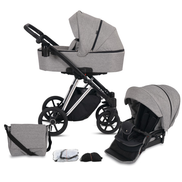 Knorr Baby Kombi-Kinderwagen LUZON Silver Edition Graphit Kollektion 2021