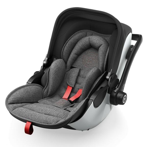 Kiddy Evoluna I Size 2 Kindersitz 45-83 cm Grey Melange - Hot Red -Solange Vorrat reicht!-