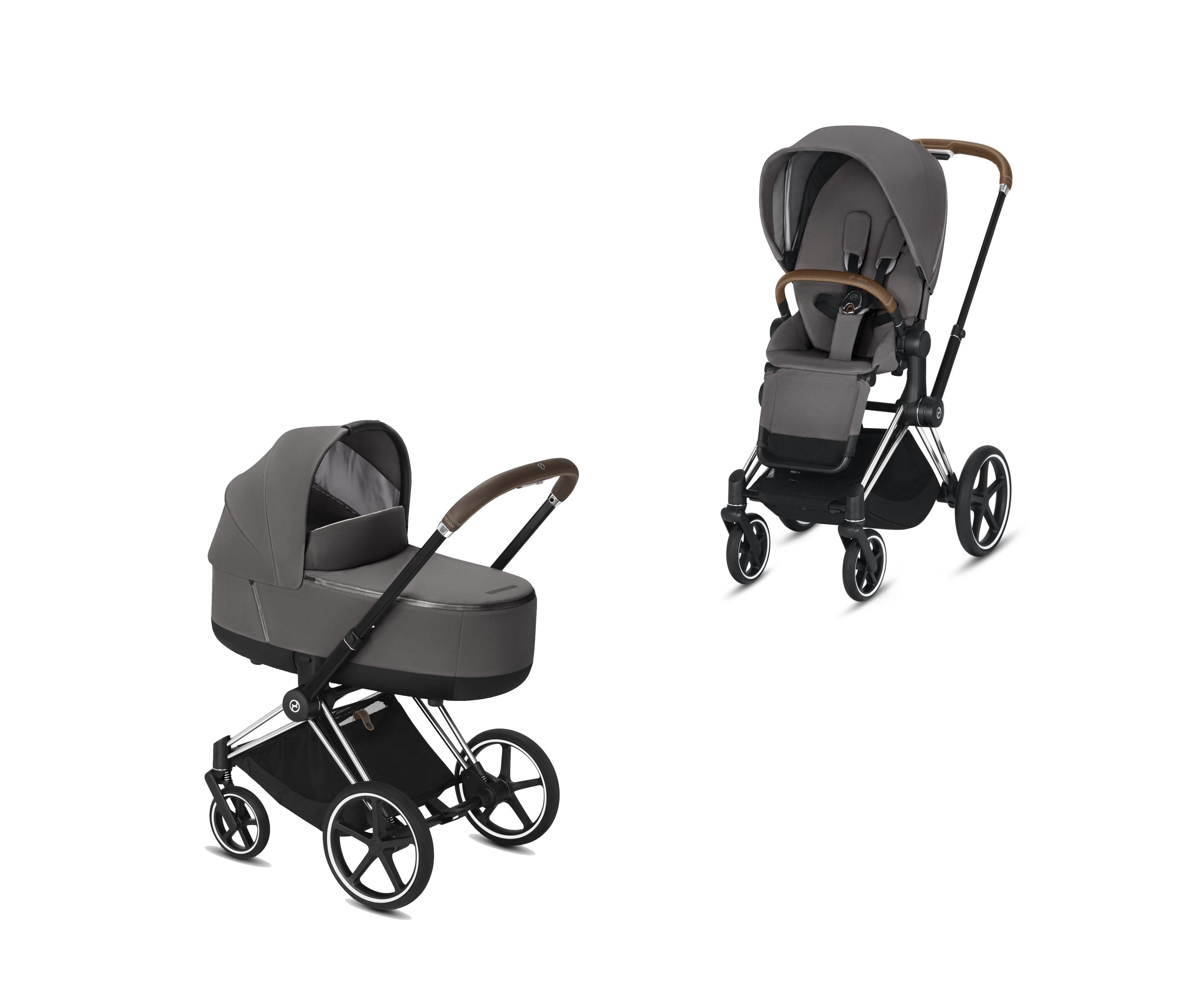 Cybex Platinum Priam Chrome Brown Inkl Lux Sitz Und Babywanne Manhattan Grey Solange Vorrat Reicht Baby Fachmarkt Fur Babyausstattung Gmbh