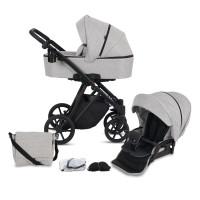 Knorr Baby Kombi-Kinderwagen LUZON Black Edition Hellgrau Kollektion 2021