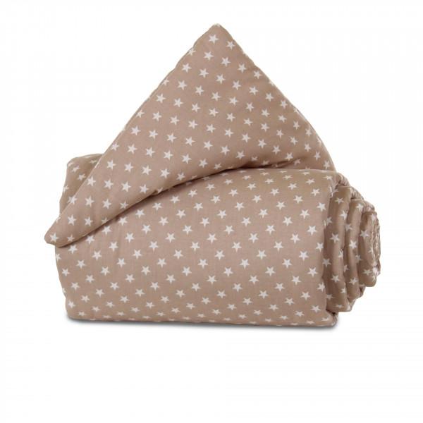 Tobi Babybay Nestchen für Original Organic Cotton hellbraun, mit Sternen weiß