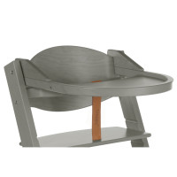 Treppy Ess- und Spielbrett, Playtray Wood Grey