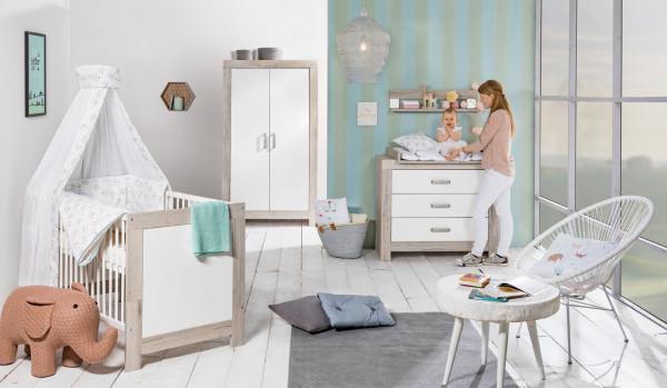 Schardt Kinderzimmer Nordic Halifax mit 2 trg. Schrank