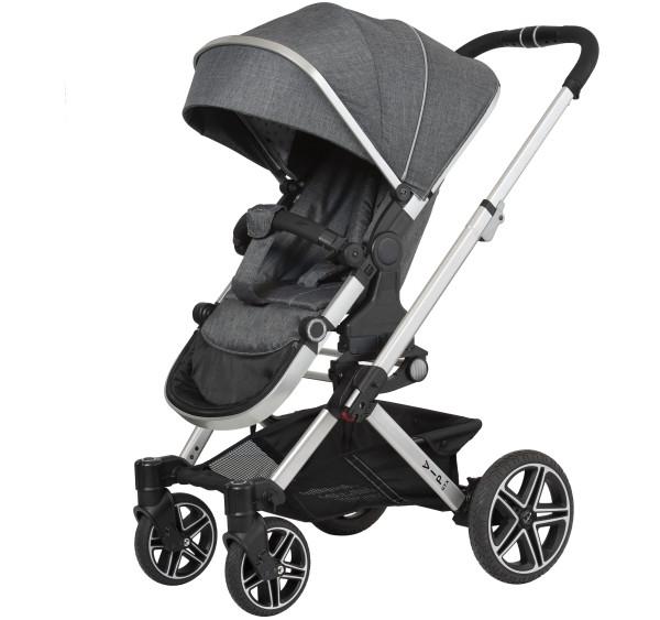 Hartan Kinderwagen Vip GTX 400 grey hearts Gestellfarbe silber Kollektion 2021