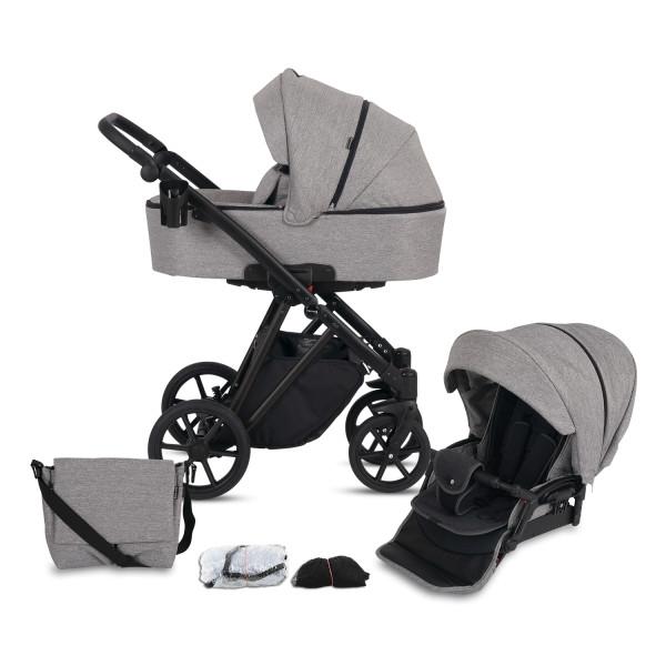 Knorr Baby Kombi-Kinderwagen LUZON Black Edition Kollektion 2021