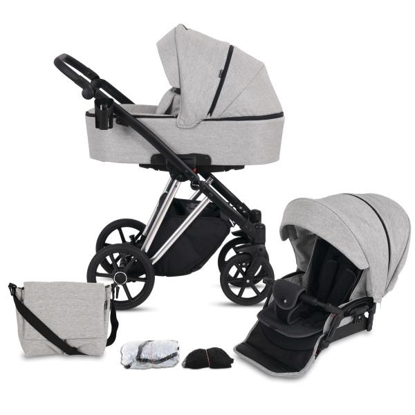 Knorr Baby Kombi-Kinderwagen LUZON Silver Edition Hellgrau Kollektion 2021