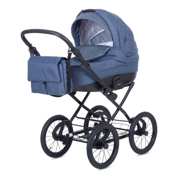 Knorr Baby Kinderwagen ROMA Blau / Punkte
