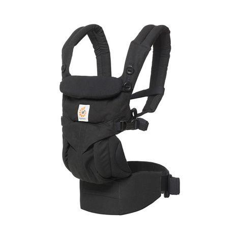 Ergobaby Babytrage 360° Omni für 4 Tragepositionen mit Lordosestütze - Pure Black