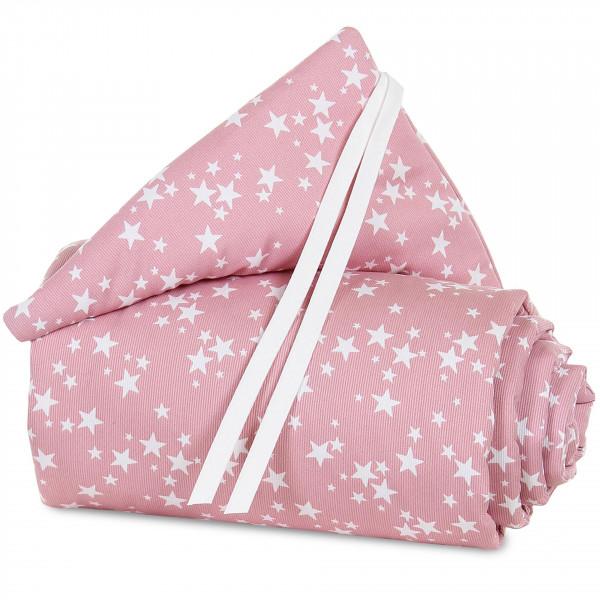 Tobi Babybay Nestchen für Original Piqué beere, mit Sternen weiß