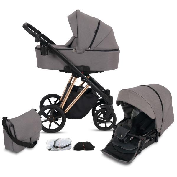 Knorr Baby Kombi-Kinderwagen LUZON Gold Edition Taupe Kollektion 2021