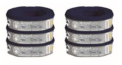 Angelcare 6er-Pack Nachfüllkassette für Dress-Up Windeleimer