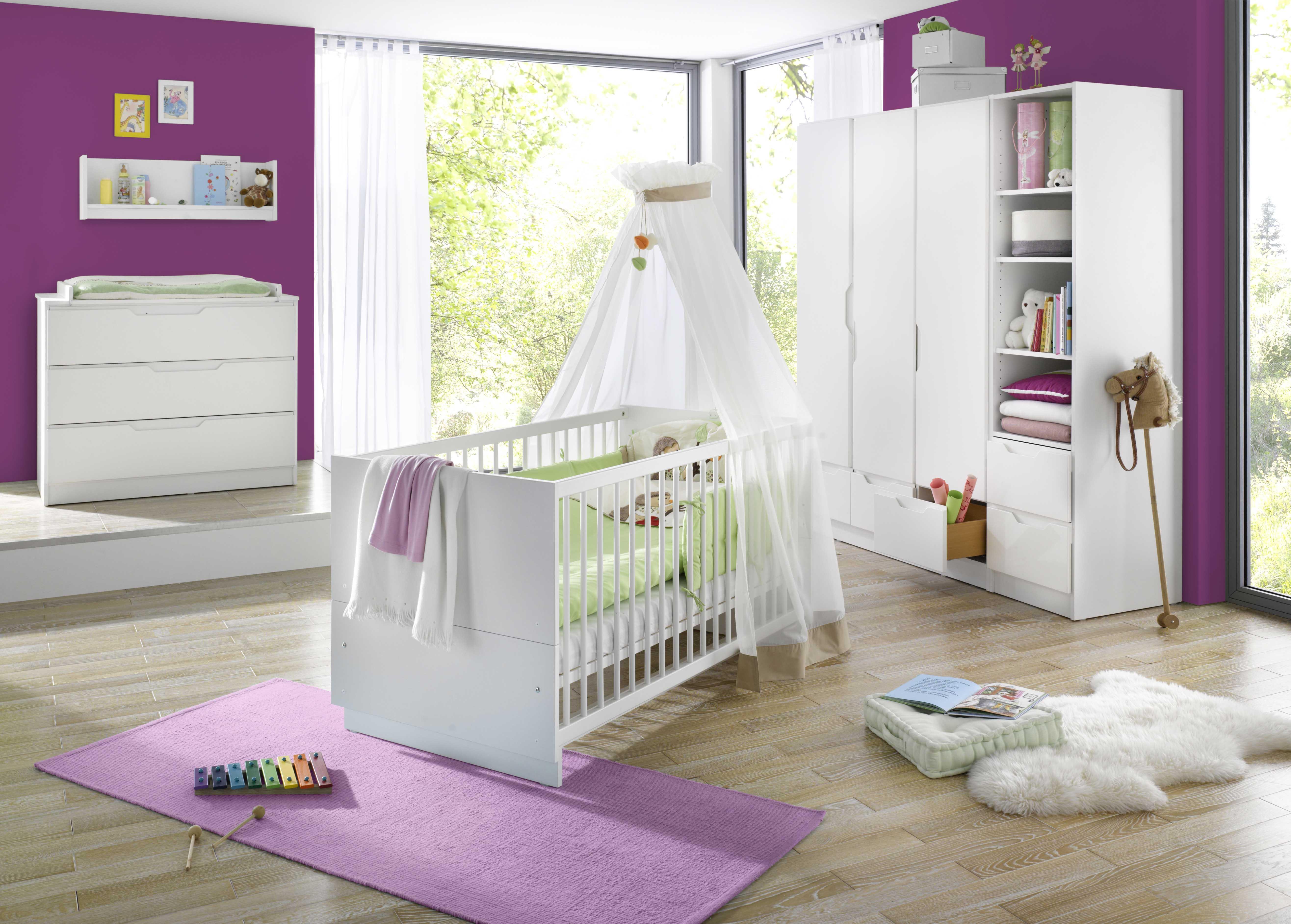 Geuther Kinderzimmer Fresh Weiß mit 3-teiliger Schrank | Baby ...