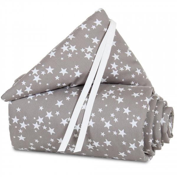 Tobi Babybay Nestchen für Original Piqué taupe, mit Sternen weiß