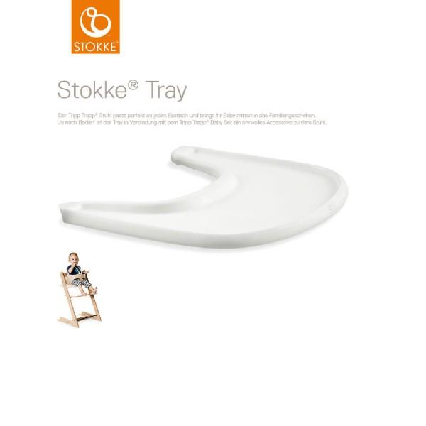 Stokke Tray Tablett weiß