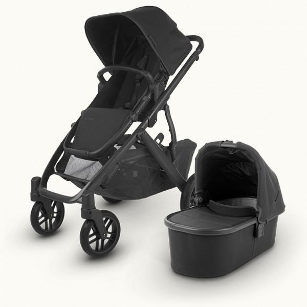 Uppababy Kinderwagen VISTA v2 JAKE (charcoal) Black Leather