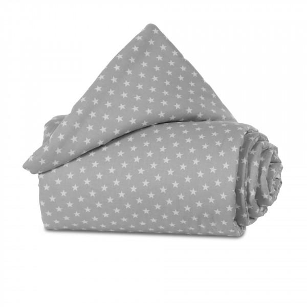 Tobi Babybay Nestchen für Original Organic Cotton lichtgrau, mit Sternen weiß