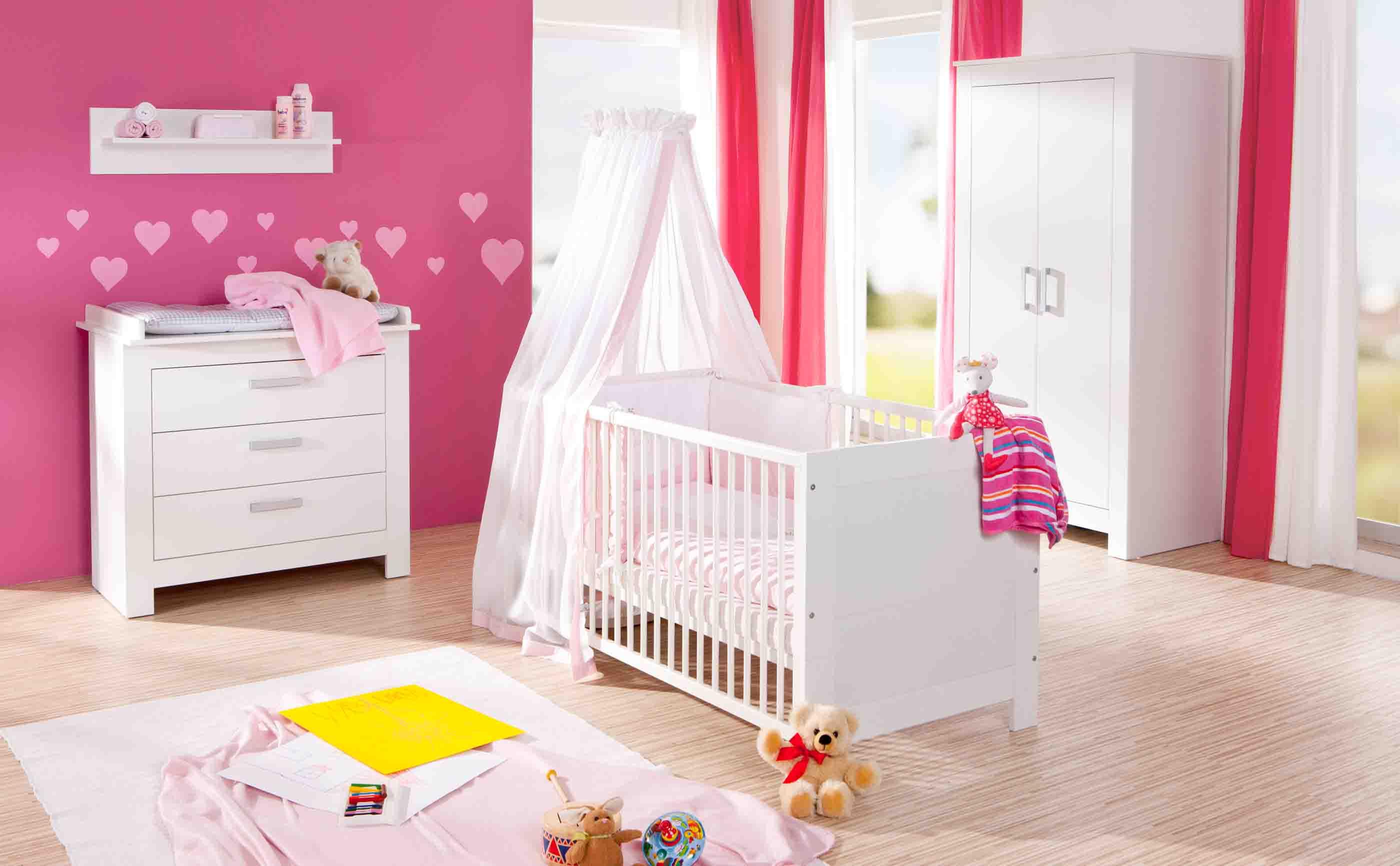 Geuther Kinderzimmer Marlene Weiß mit 3-teiliger Schrank | Baby ...