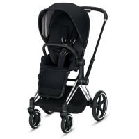 Cybex PLATINUM Kinderwagen Priam - Rahmen Chrome inklusive Sitz in Premium Black