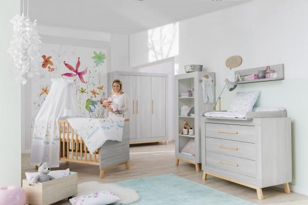 Schardt Kinderzimmer Miami Grey 3-Türig inkl. Umbauseiten