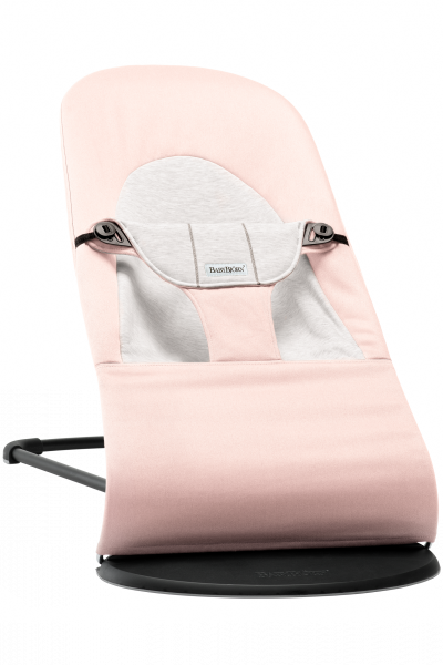 BabyBjörn Babywippe Balance Soft Hellrosa / Grau, Cotton / Jersey