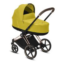 CYBEX Platinum PRIAM inkl. Sitz und Lux Babywanne Mustard Yellow Kollektion 2021