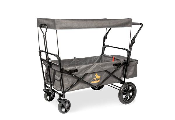 Pinolino Klappbollerwagen Piet Comfort mit Bremse grau meliert
