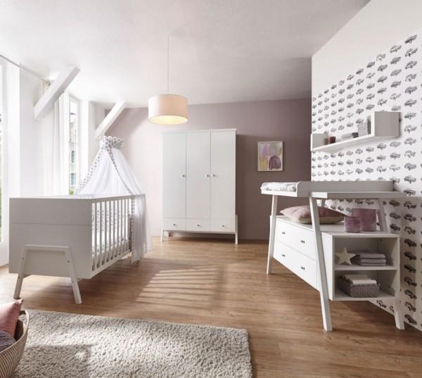 Schardt Holly White Kinderzimmer mit 3 Türigem Schrank