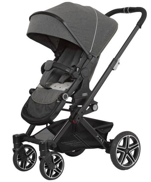 Hartan Kinderwagen Vip GTX 407 flower stripes Gestellfarbe schwarz Kollektion 2021