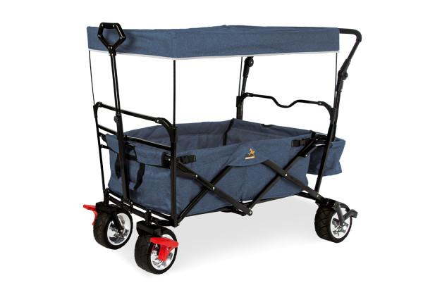 Pinolino Klappbollerwagen 'Paxi Style' mit Bremse, marineblau meliert 238025