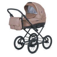Knorr Baby Kinderwagen KRETA Cappucino / Punkte Kollektion 2021