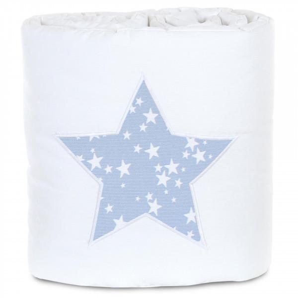Tobi Babybay Nestchen für Original Piqué weiß, Applikation Stern azurblau