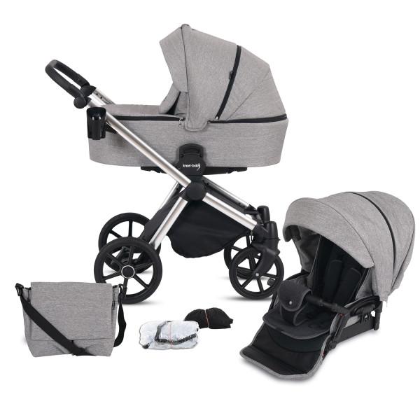 Knorr Baby Kombi-Kinderwagen LIFE+ 2.0 Silver Edition Graphit Kollektion 2021