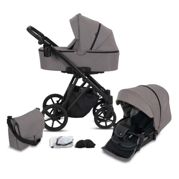 Knorr Baby Kombi-Kinderwagen LUZON Black Edition Taupe Kollektion 2021